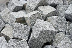 Granitwürfelblöcke Stockfotos