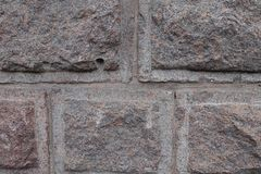 Granitwand hergestellt in rustication Technik stockfoto