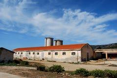 Granja abandonada Foto de archivo