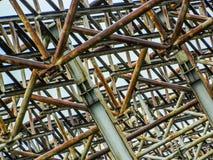 Granja abandonada del metal Foto de archivo libre de regalías