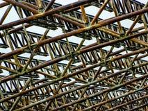 Granja abandonada del metal Imagenes de archivo