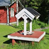 Granja ambiental de Hertsö en LuleÃ¥ Fotografía de archivo libre de regalías
