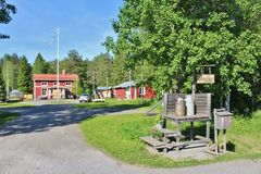 Granja ambiental de Hertsö en Luleå Imagen de archivo