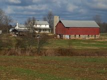 Granja de Amish Imagenes de archivo