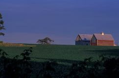 Granja de Indiana Imagen de archivo libre de regalías