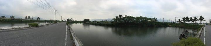 Granja de la agricultura y de la acuicultura de la almeja de Lichuan fotos de archivo libres de regalías