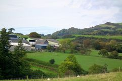 Granja de la colina foto de archivo