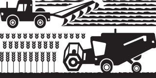 Granja de la maquinaria agrícola ilustración del vector
