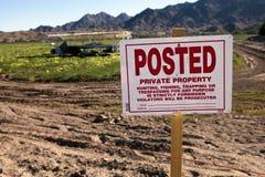 Granja de la propiedad privada Fotografía de archivo