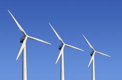 Granja de la turbina de viento Fotografía de archivo libre de regalías