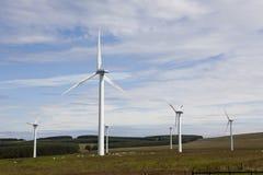 Granja de la turbina de viento. Imagen de archivo libre de regalías