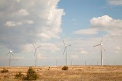 Granja de la turbina de viento Fotos de archivo