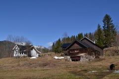 Granja de los noruegos en la primavera imágenes de archivo libres de regalías