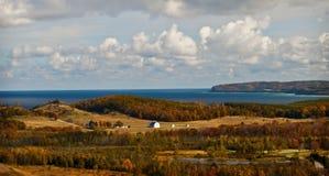 Granja de Michigan de lago Foto de archivo libre de regalías