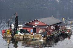 Granja de pescados noruega Foto de archivo libre de regalías