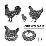 Granja de pollo ilustración del vector