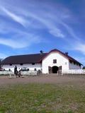 Granja de poste de los caballos Fotos de archivo