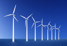 Granja de viento Fotografía de archivo