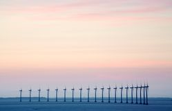 Granja de viento costa afuera Imagen de archivo