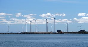 Granja de viento w4 Foto de archivo libre de regalías