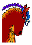 Granja del caballo Head Imagenes de archivo