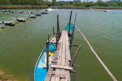Granja del camarón, Tailandia Foto de archivo libre de regalías