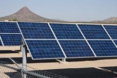 Granja del colector de la energía del panel solar Foto de archivo libre de regalías