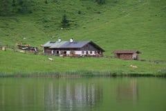 Granja del lago Fotografía de archivo libre de regalías
