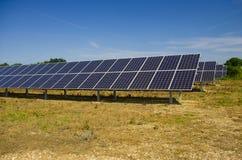 Granja del panel solar Fotografía de archivo