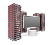 Granja del servidor de recibimiento Fotos de archivo libres de regalías