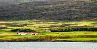 Granja en Akureyri foto de archivo