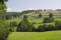 Granja en los Wolds de Yorkshire Fotos de archivo