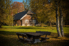 Granja etnográfica en Letonia Fotos de archivo libres de regalías