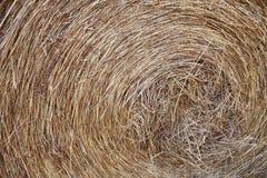 Granja-macro de Hay Roll On A Imagen de archivo libre de regalías