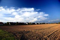 Granja por la tarde Foto de archivo libre de regalías