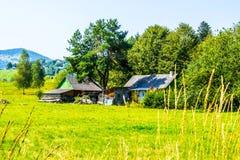 Granja rústica en Ucrania Fotos de archivo