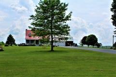 Granja situada en Franklin County, en el norte del estado Nueva York, Estados Unidos Fotografía de archivo libre de regalías