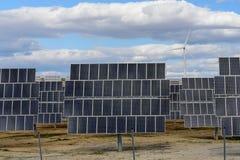 Granja solar Foto de archivo