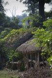 Granja típica en lado del país del nepali Fotos de archivo libres de regalías