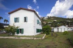 Granja vieja del azúcar en la ciudad del camino, British Virgin Islands foto de archivo libre de regalías