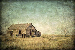 Granja vieja en la pradera de Colorado Imagenes de archivo