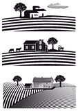Granja y campos Imagen de archivo