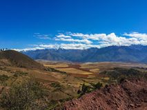 Granjas de la quinoa cerca de Cusco foto de archivo libre de regalías