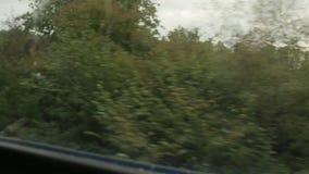 Granjas de los jardines de la ventana del tren metrajes