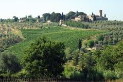 Granjas en Toscana, Italia fotografía de archivo libre de regalías