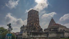 Granjero, campanario, palacio, en el patio de Aranmanai en Thanjavur foto de archivo