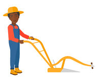 Granjero con el arado libre illustration