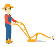 Granjero con el arado ilustración del vector