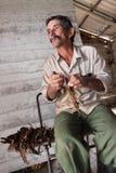 Granjero cubano en Trinidad Imagen de archivo libre de regalías