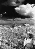 Granjero de la señora mayor Foto de archivo libre de regalías
